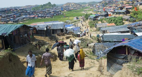 Rohingya Housing At Jamtoli Refugee Camp NGO