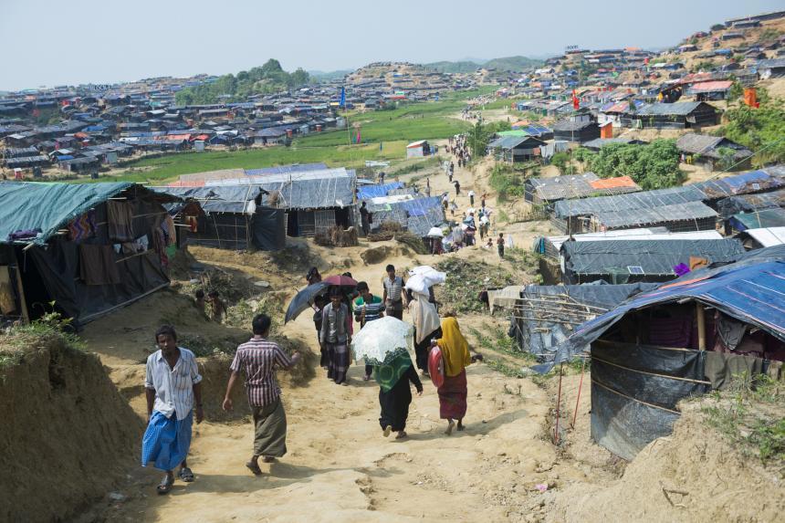 Rohingya Housing At Jamtoli Refugee Camp NGO