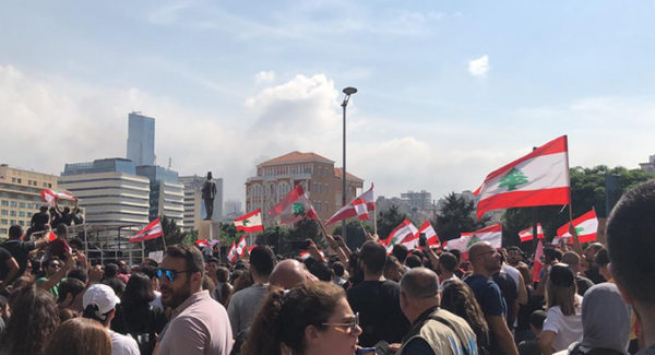 Protests In Beirut, Lebanon 2019 Banner