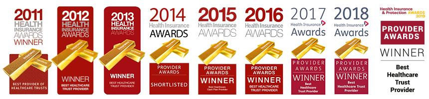 Healix Health Services Awards Logos