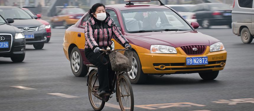 Smog air pollution