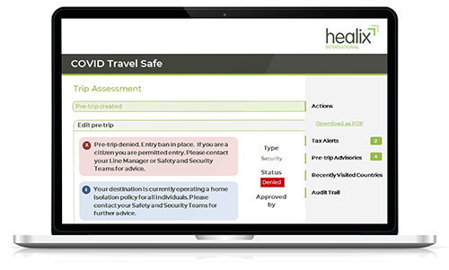 COVID Travel Safe Mock Up Web