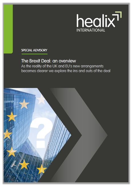The Brexit Deal An Overview Special Advisory Cover